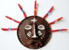 Африканская маска из бумажной тарелочки