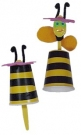 Пчелка из пластикового стаканчика