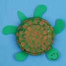 Морская черепаха из бумажных тарелочек