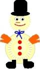 Снеговик из бумажных тарелочек