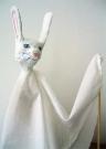Тростевая кукла белый-белый заяц